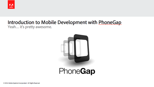 Introduction to Mobile Development with PhoneGap