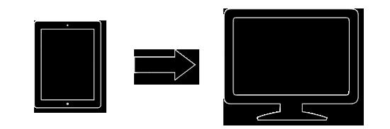 Mobile App Drives External Screen