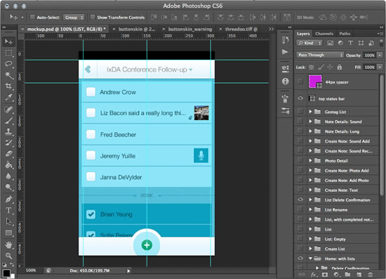 UI Mockups in PhotoShop