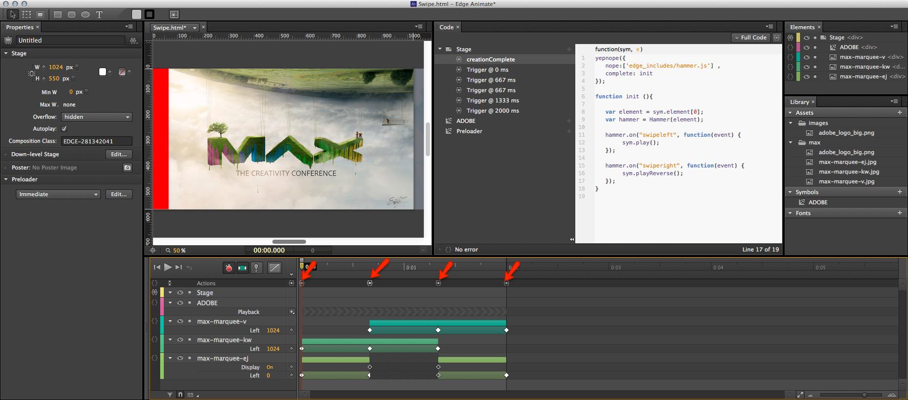 Enabling Gestures in Edge Animate Compositions - DZone Web Dev