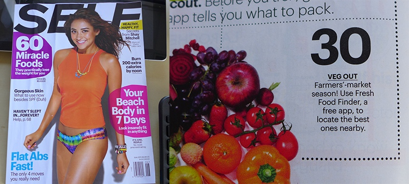 Fresh Food Finder in SELF Magazine
