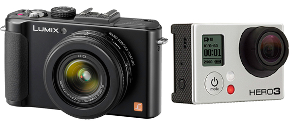 Panasonic Lumix LX7 and GoPro Hero 3 Black