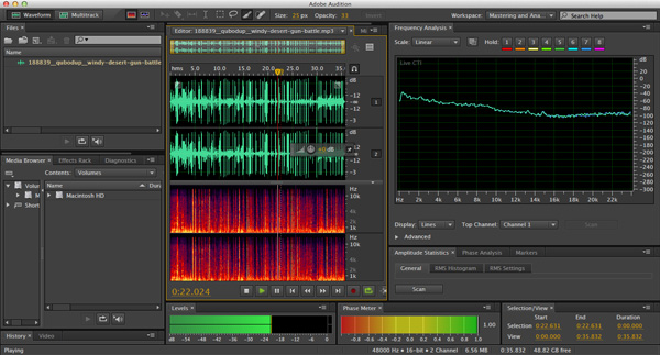 Audio Processing with Adobe Audition