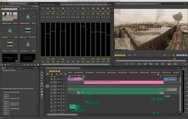 Composing/Sequencing in Adobe Premiere