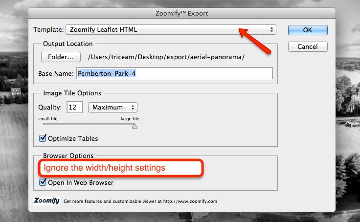 zoomify export
