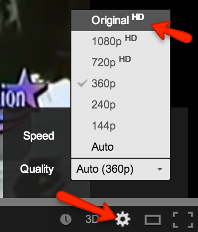 Change YouTube Resolution