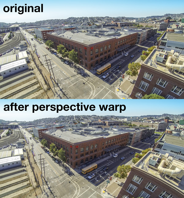 Shifting Perspective with Perspective Warp