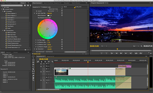 Editing within Adobe Premiere