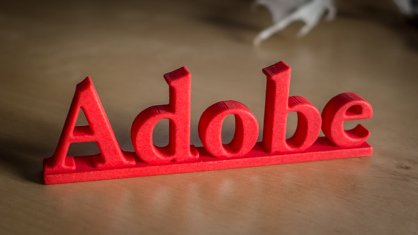 """Adobe"" 3D Printed Name Plate"