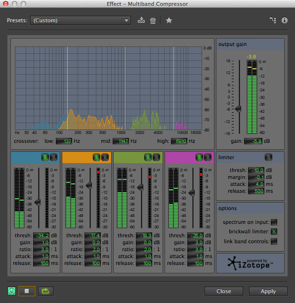 Multi-band Compressor in Adobe Audition