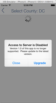 In-App Disabled Experience
