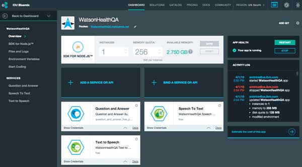 bluemix-dashboard