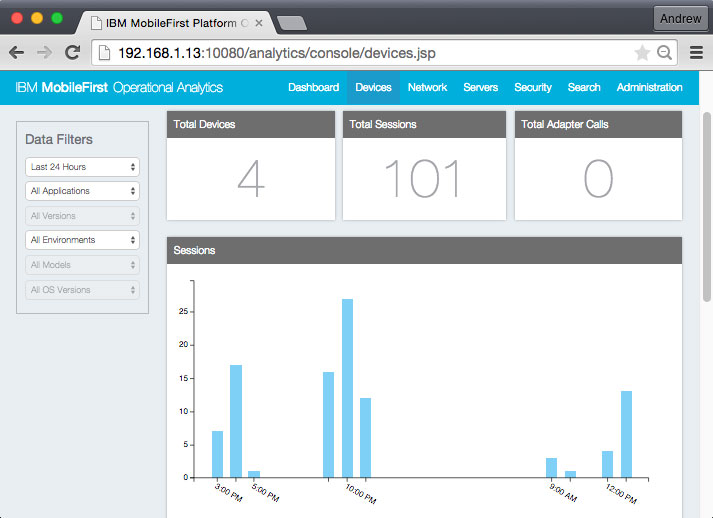 MobileFirst Operation Analytics with the WatchKit App